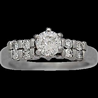 .35ct. Diamond Estate Engagement Ring Platinum