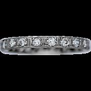 Art Deco 1.00ct. T.W. Diamond Antique Eternity Band Platinum
