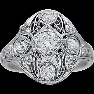 1.50ct. T.W. Diamond Art Deco Antique Engagement Ring Platinum