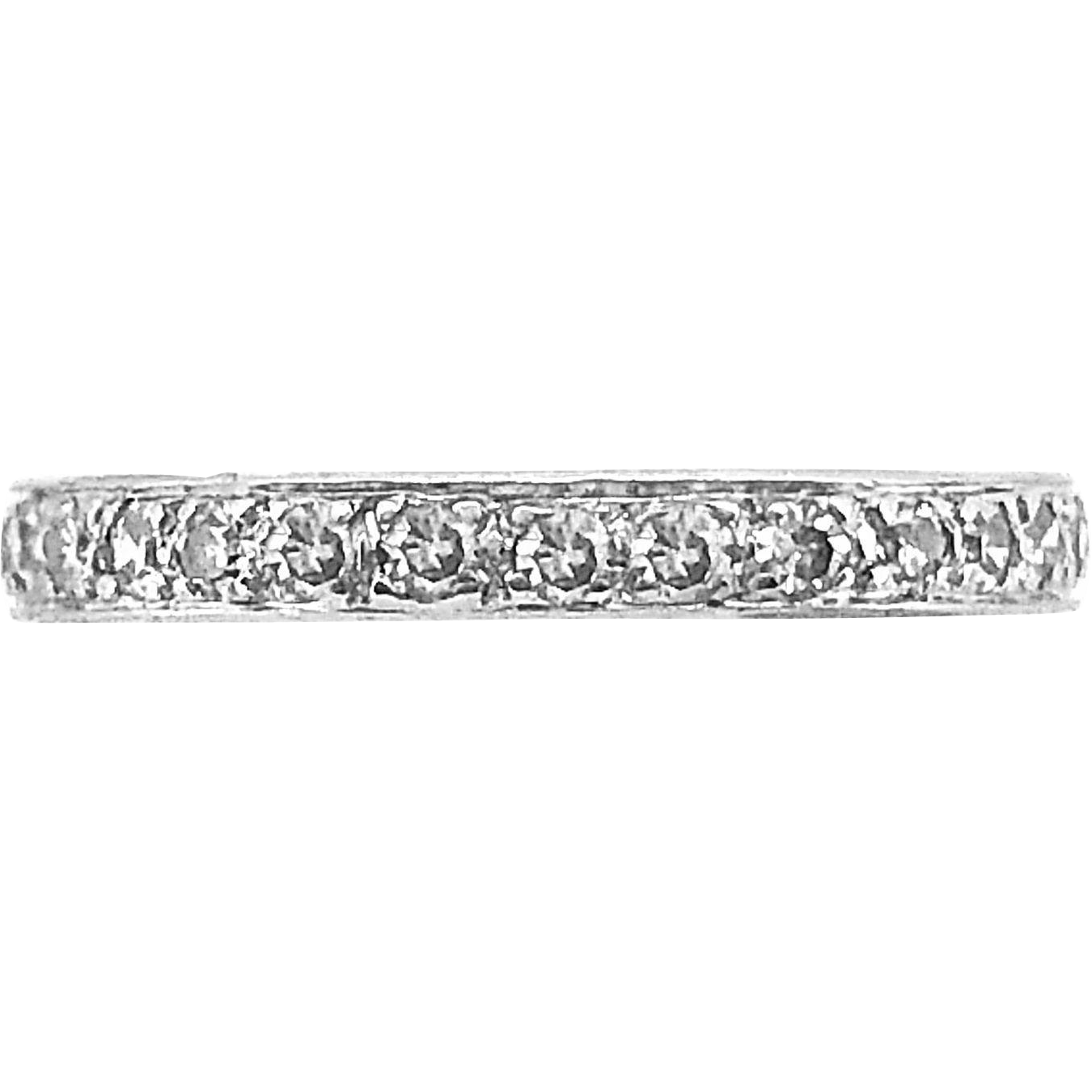 Antique Eternity Band .50ct. T.W. Diamond Platinum
