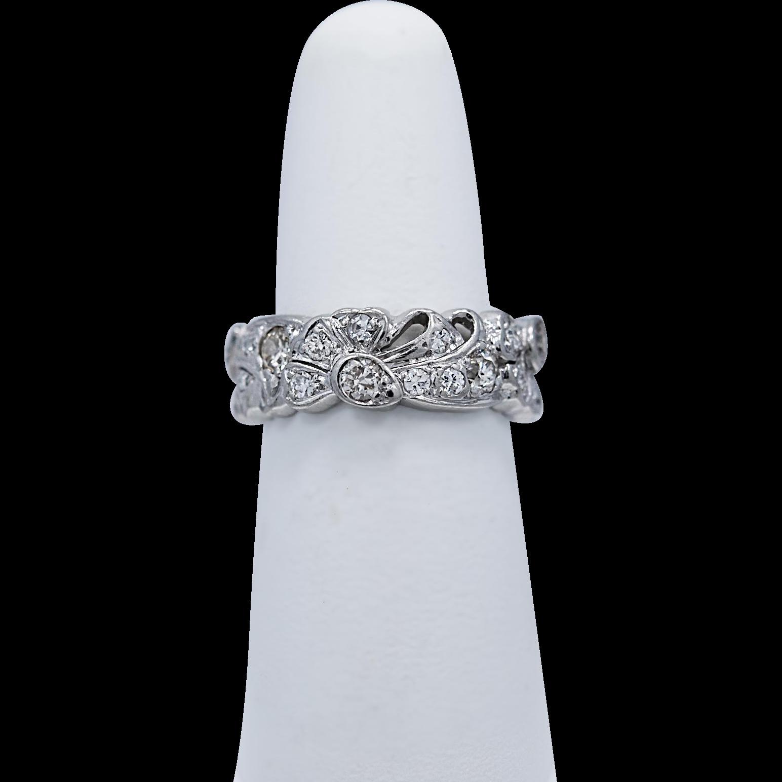 Platinum 1.50ct. T.W. Diamond Art Deco Eternity - Wedding Band