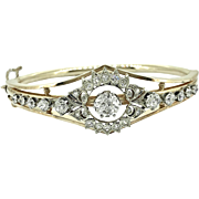 Art Deco 3.75ct. T.W. Diamond Antique Bracelet Platinum and Yellow Gold