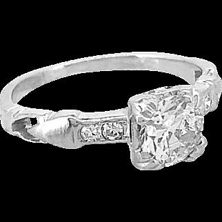 .70ct. Diamond Antique Engagement Ring Platinum