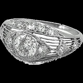 Antique .65ct. Diamond Engagement Ring Platinum