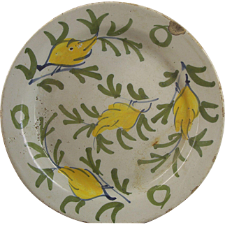 Early 18th Century Decorated Delft Plate