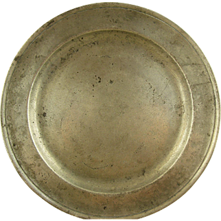 18th Century Pewter Plate - American or English