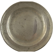 Antique English Pewter Plate by Townsend Compton