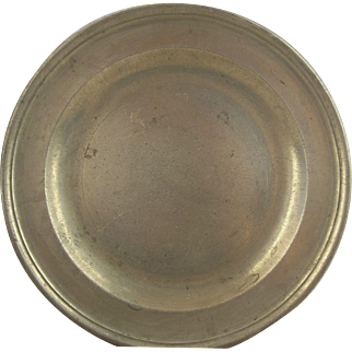Antique English Pewter Plate by Townsend & Compton