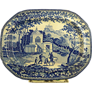 "Staffordshire Blue Platter ""Adams"""