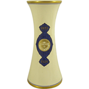 Masonic Porcelain Vase  75th Anniversary Lodge No. 25 Newark NJ