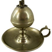 Antique American Pewter Whale Oil Lamp