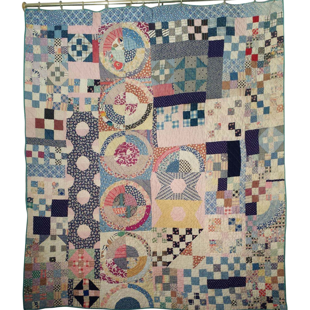 Antique handmade quilt circa 1885 olde sampler sold on for What to do with an old quilt