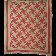 Vintage Handmade Quilt Circa 1930: Indiana Puzzle