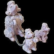3 Piece Set of Pink Spaghetti Ceramic Dogs
