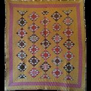The Anvil Handmade Antique Quilt CA 1870