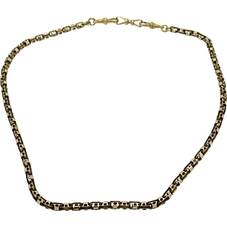 A Superb early English Victorian 15 k Rose Gold chain /necklace