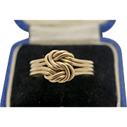 A Beautiful Antique Victorian 18k Gold Lovers Knot ring 1896