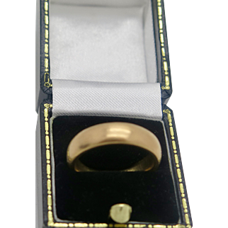 A Great Antique Victorian 22k Gold wedding ring/band 1870 , weight 13.3 gram