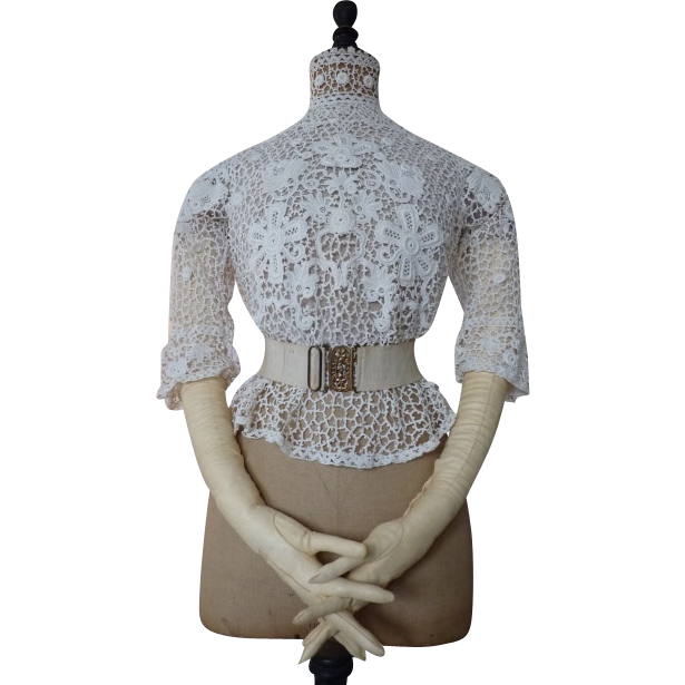 Lace Blouse Dress 41