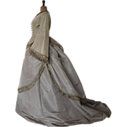 Afternoon or Day Dress, Antique Gown, Antique Dress, ca. 1867