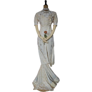 Titanic Era Wedding Dress, Antique Dress, Antique Gown, Edwardian Dress, Bridal  Gown, ca. 1912