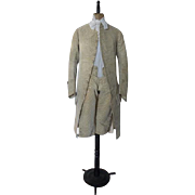 Gents English Printed Velvet Two-Piece Suit, Antique Suit, Antique Breeches, Antique Coat, Antique Mantle, ca. 1775, 18th century