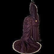 Antique Dress, Antique Gown, Victorian Dress, Bustle Reception Gown, ca. 1882