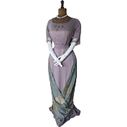Titanic Era Ball Gown, Antique Evening Gown, Antique Dress, Antique Gown, Edwardian Dress, Strasbourg, ca. 1912