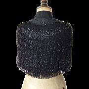 Extraordinary Cape, Antique Pelerine, Antique Cape, Victorian Dress, Antique Gown, ca. 1888