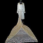 Wedding Dress, Bridal Gown, 1920s, 20s, ca. 1925