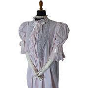 Antique Peignoir, Victorian Lingerie, Antique Dressing Gown, Antique Robe, Antique Wrapper, ca. 1890