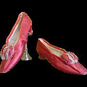 Elegant Evening Shoes, Antique Shoes, Antique Pumps,  Victorian Shoes, Crown Princess Stephanie of Austria, ca. 1881
