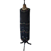 Polychrome Beaded Dress, Flapper Dress, Charleston Dress, Gown, Evening Dress, Ball Gown, 20s, 1920s