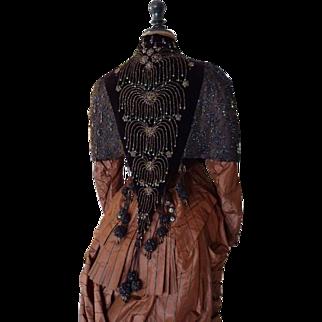 Shoulder Cape, Antique Cape, Victorian Cape, antique dress, antique gown, Paris, ca. 1885