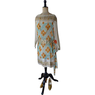 Dinner Dress, Flapper Dress, 1920s, 20s, ca. 1928