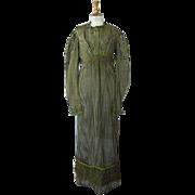 Empire Reception Gown, Antique Gown, Antique Dress, Regency, ca. 1820