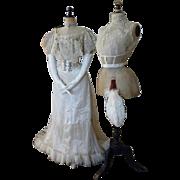 BUZENET Ball Gown, Paris, Antique Dress, Antique Gown, Edwardian Dress, ca. 1903