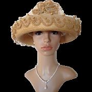 Elegant Summer Hat from an purveyor to the court, Berlin, German hat, ca. 1912