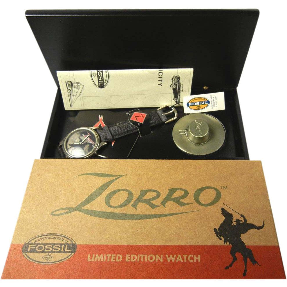 Zorro Fossil Limited Edition Wrist Watch with Hat Stamp