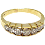14 Karat Yellow Gold Diamond Ring - Size 4 - Engagement Jewelry