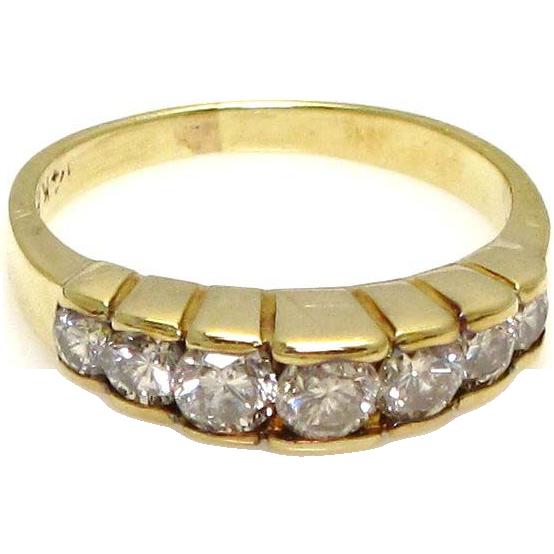 14 Karat Yellow Gold Diamond Ring - Size 4 - Engagement Jewelry
