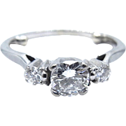 14 Karat White Gold Engagement Diamond Ring