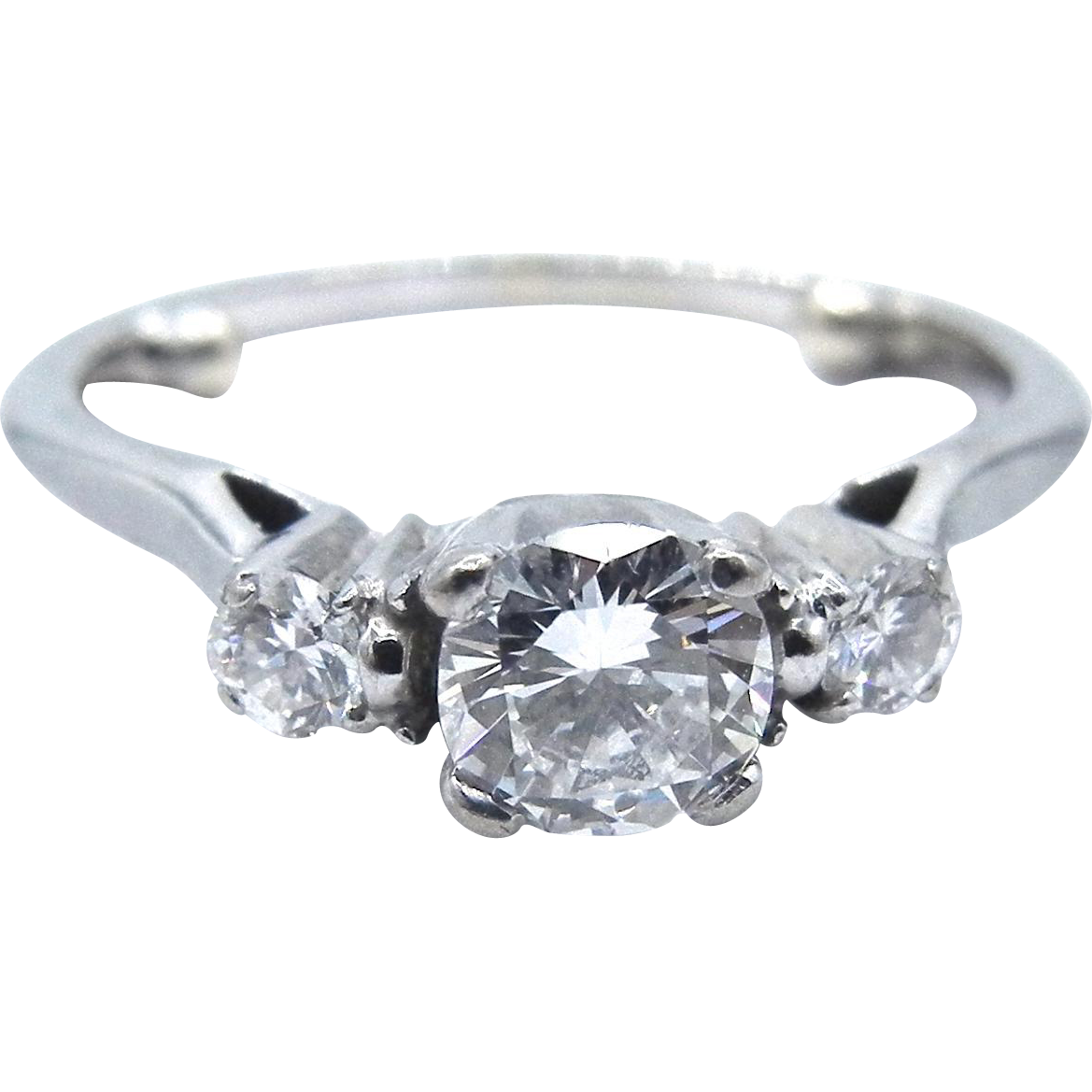 14 Karat White Gold Engagement Diamond Ring