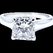 14 Karat White Gold Princess Cut Diamond Ring