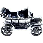 Old Convertible Automobile Charm with Moving Wheels