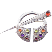 Sterling Silver Limited Edition Maureen O'Hara Modernist Brooch - Hollywood Glamour