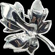 Tiffany & Co Maple Leaf Sterling Silver Brooch - 1985 Tiffany & Co. Pin