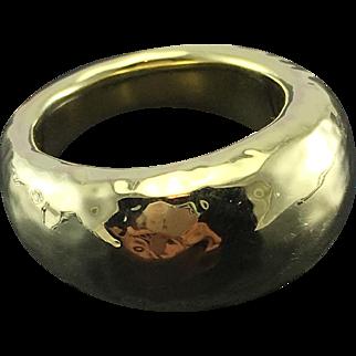 Ippolita 18K Yellow Gold Hammered Ring - Large Glamazon Dome Ring - Size 6 - Designer Jewelry - Signed - Fashion