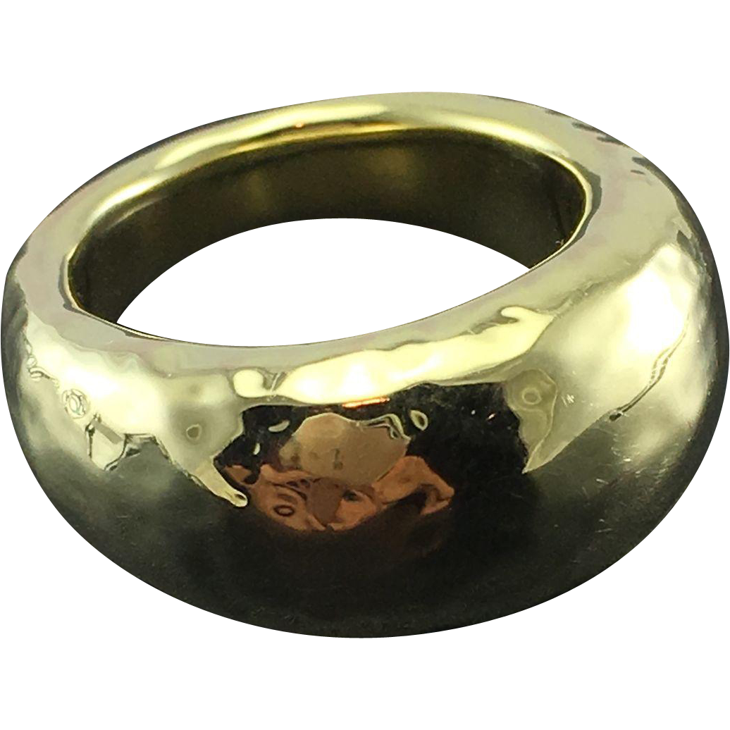 Ippolita 18K Yellow Gold Hammered Ring - Large Glamazon Dome