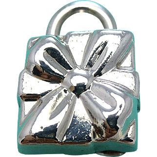 Tiffany & Co Sterling Silver Gift Box Lock Pendant - Gift Cube Charm
